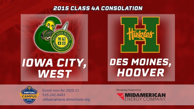 2015 Basketball Class 4A Consolation Iowa City, West vs. Des Moines, Hoover