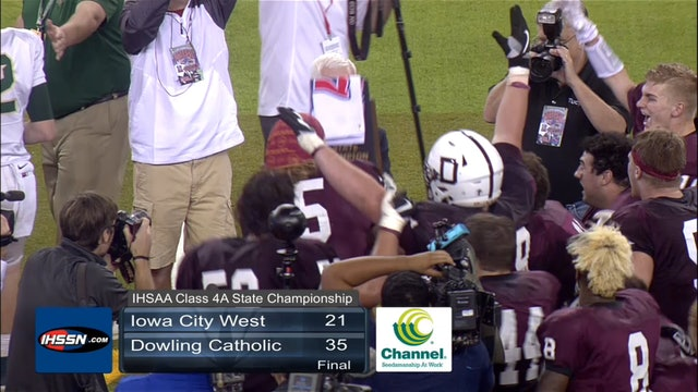 2017 Football 4A Final Highlights - Dowling Catholic vs. Iowa City, West