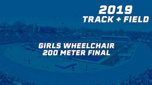 Girls Wheelchair 200 Meter Final
