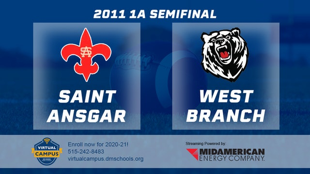2011 Football 1A Semifinal - Saint Ansgar vs. West Branch