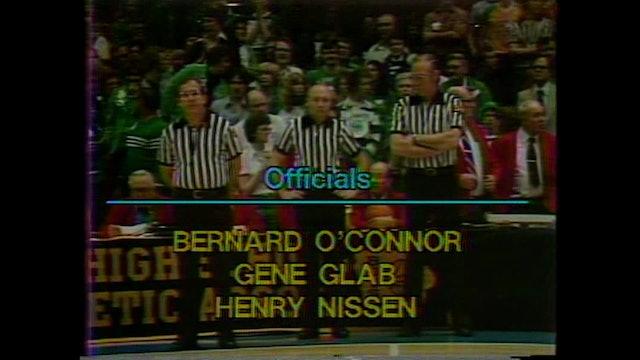 1981 Boys Basketball Class 2A Semifinals St. Edmond vs. Dewitt Central Full Game