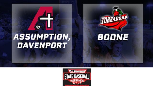 2019 Baseball 3A Quarterfinal - Assumption, Davenport vs. Boone