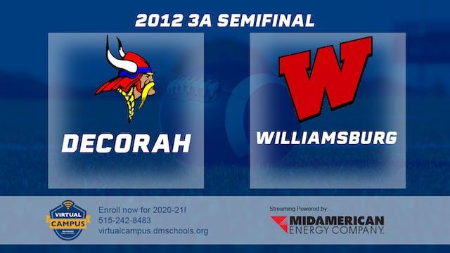 2012 3A Football Semi Finals: Decorah...