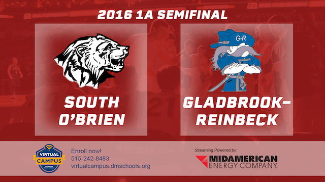 2016 Basketball 1A Semifinal South O'Brien, Paullina vs. Gladbrook-Reinbeck