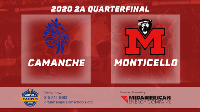 2020 Basketball 2A Quarterfinal Highlights (Camanche | Monticello)