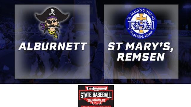 2019 Baseball 1A Semifinal - Alburnett vs. St. Mary's Remsen