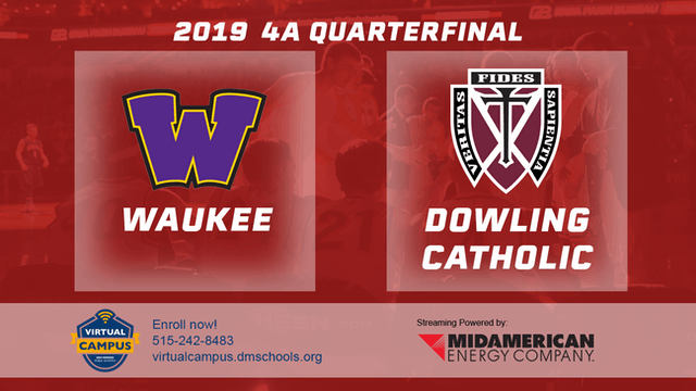 2019 Basketball 4A Quarterfinal - Wau...
