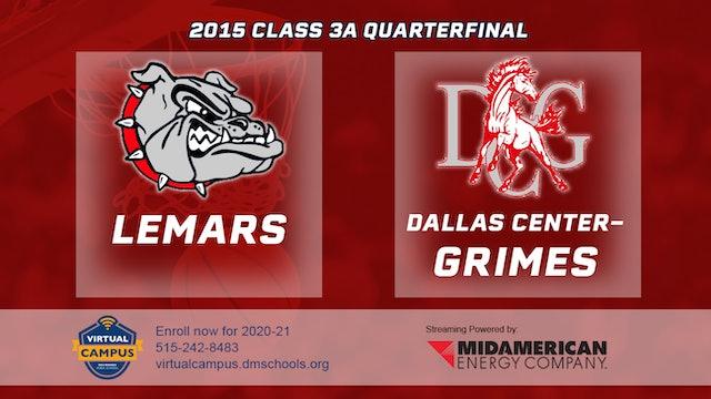 2015 3A Basketball Quarter Finals: Lemars vs. Dallas Center Grimes