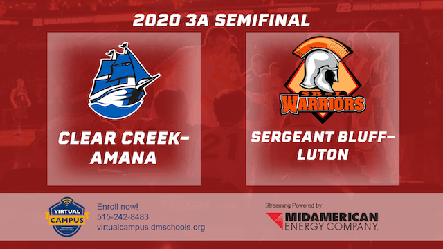 2020 Basketball 3A Semifinal Highlights (Sgt. Bluff-Luton | Clear Creek-Amana)