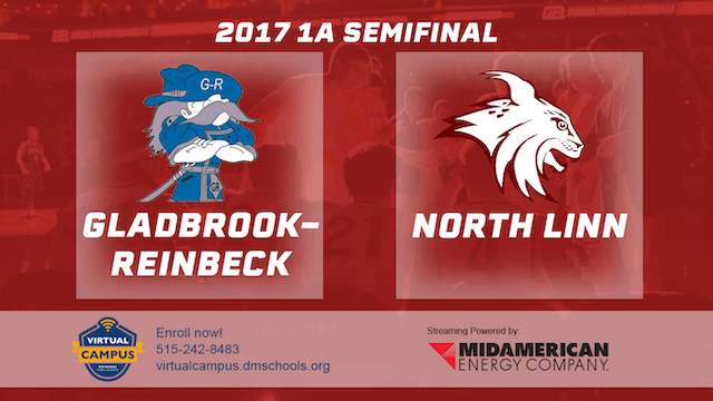 2017 Basketball 1A Semifinal (Gladbrook-Reinbeck vs. North Linn, Troy Mills)