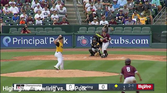 2019 Baseball Highlights - 4A QF Dowl...