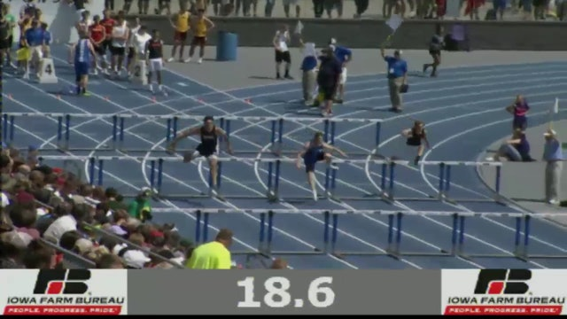 Boys Shuttle Hurdle Relay 2A Final Section 2