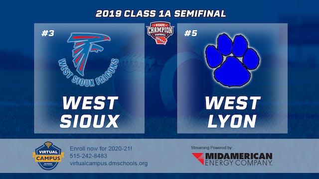 2019 Football 1A Semifinal - #1 West ...