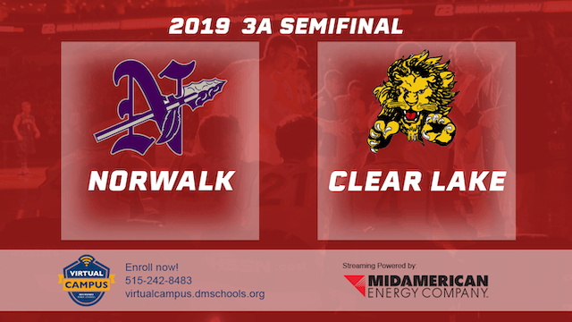 2019 Basketball 3A Semifinal - Norwalk vs. Clear Lake