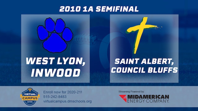 2010 Football 1A Semifinal - West Lyon vs. St. Albert, Council Bluffs