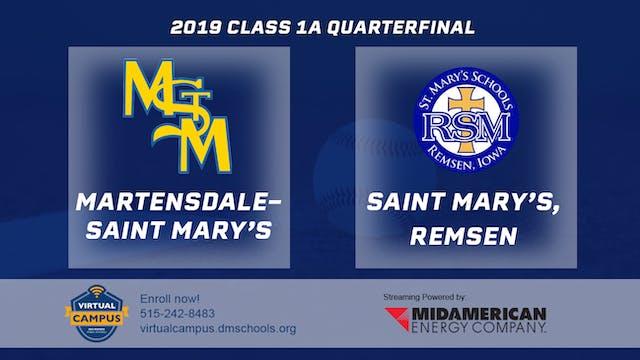 2019 Baseball 1A Quarterfinal - Marte...