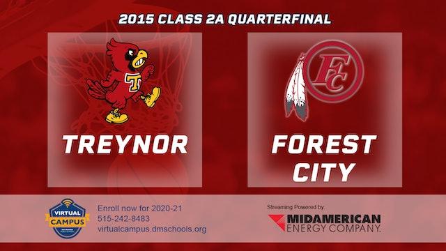 2015 2A Basketball Quarter Finals: Treynor vs. Forest City