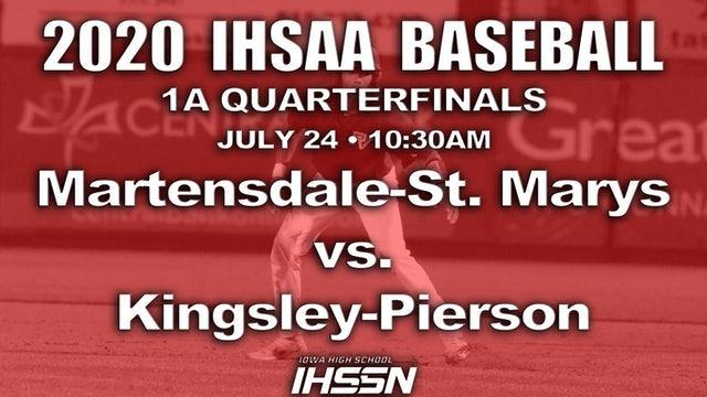 1A BASEBALL QF MARTENSDALE-ST MARYS VS. KINGLEY-PIERSON