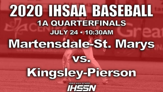 2020 1A Baseball Quarter Finals: Matensdale-St. Mary's vs. Kingsley-Pierson