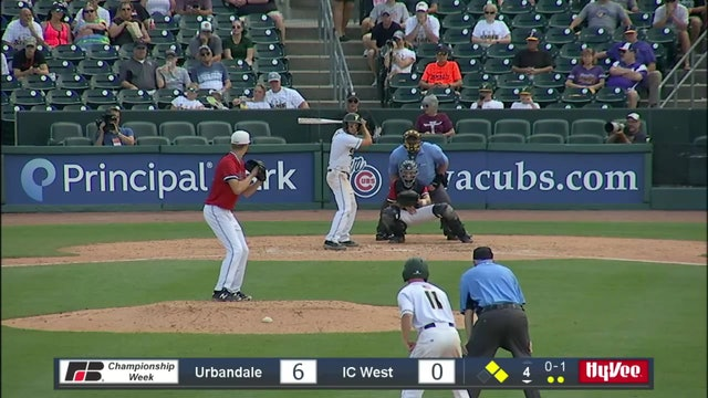 2019 Baseball Highlights - 4A Semifinal Urbandale vs. Iowa City, West