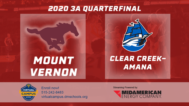 2020 Basketball 3A Quarterfinal Highlights (Clear Creek-Amana | Mount Vernon)