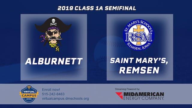 2019 Baseball 1A Semifinal - Alburnet...