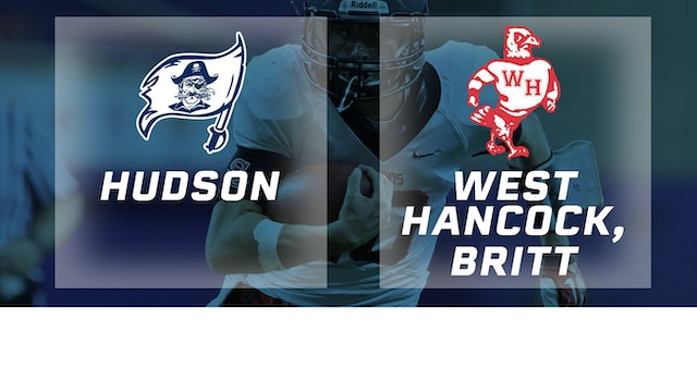 2018 Football Class A Semifinal - Hudson vs. West Hancock, Britt