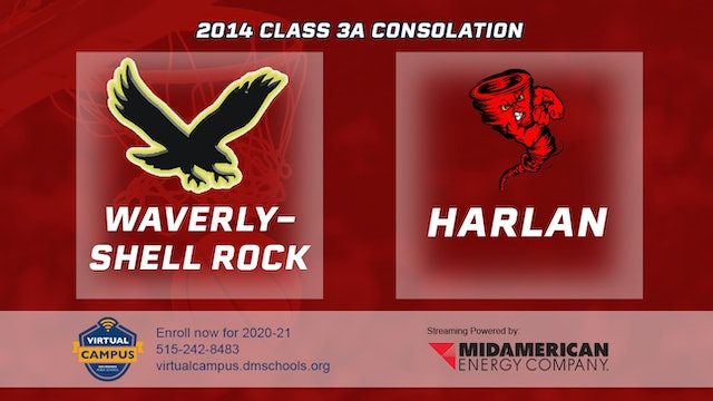 2014 Basketball 3A Consolation - Waverly-Shell Rock vs. Harlan