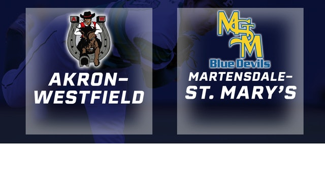 2017 Baseball 1A Semifinal - Akron-Westfield vs. Martensdale-St. Mary's