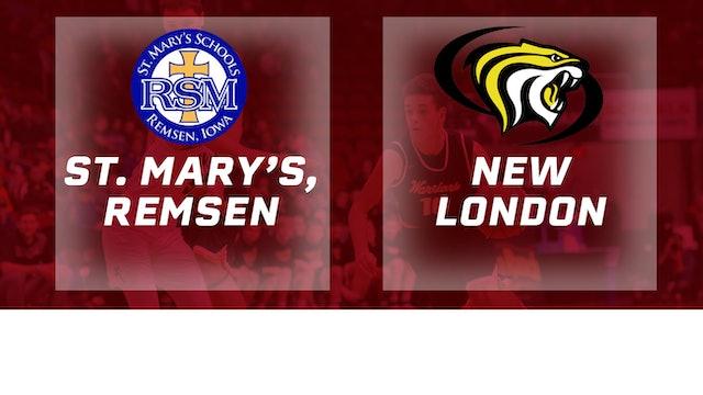 2017 Basketball 1A Quarterfinal (St Mary's Remsen vs. New London)