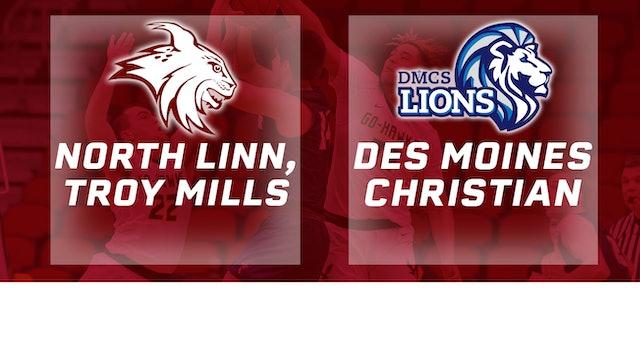 2019 Basketball 2A Quarterfinal - North Linn,Troy Mills vs. Des Moines Christian