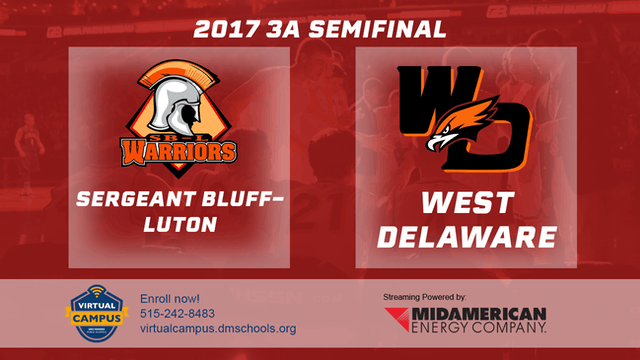 2017 Basketball 3A Semifinal (Sergeant Bluff-Luton vs West Delaware, Manchester)
