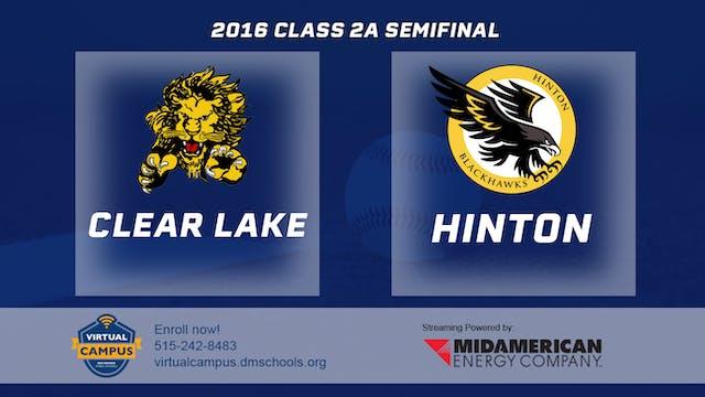 2016 Baseball 2A Semifinal - Clear La...