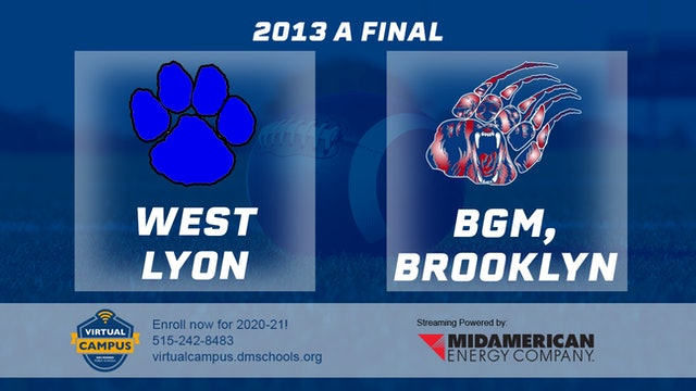 2013 Football Class A Final - West Lyon, Inwood vs. BGM, Brooklyn