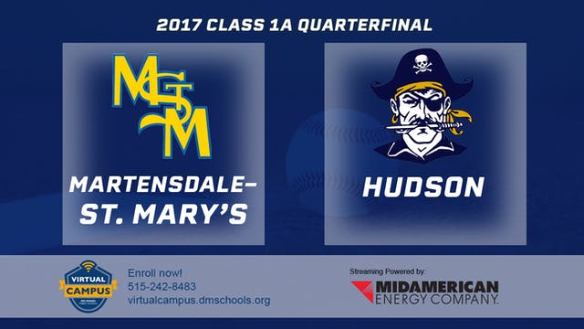 2017 Baseball 1A Quarterfinal - Marte...