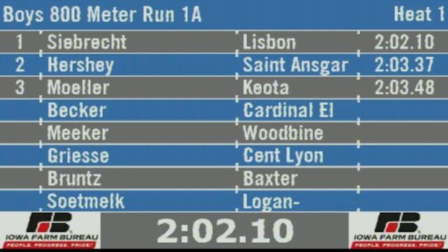 Boys 800 Meter Run 1A Final Section 1