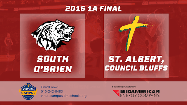 2016 Basketball 1A Final South O'Brien, Paullina vs. St. Albert, Council Bluffs