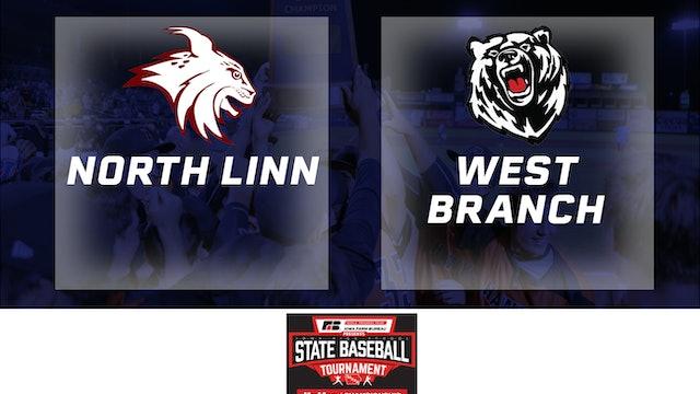 2019 Baseball 2A Quarterfinal North Linn, Troy Mills vs.West Branch