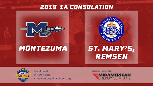 2019 Basketball 1A Consolation - Montezuma vs. St. Mary's, Remsen