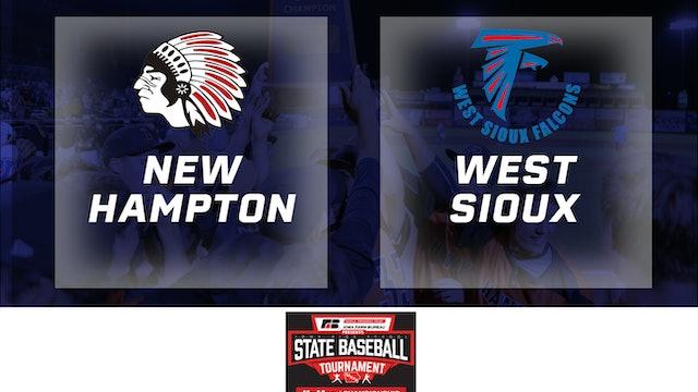 2019 Baseball 2A Quarterfinal New Hampton vs. West Sioux, Hawarden
