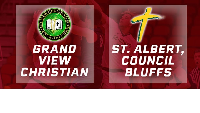 2019 Basketball 1A Quarterfinal - GV Christian vs St. Albert, Council Bluffs