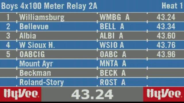 Boys 4x100 Meter Relay 2A Final