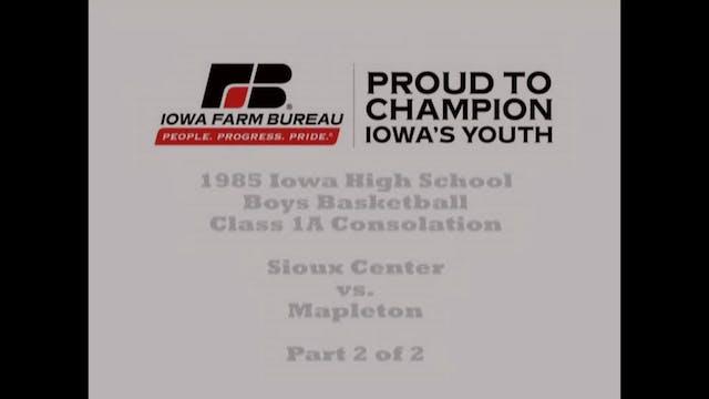 1985 1A Basketball Consolation: Sioux...