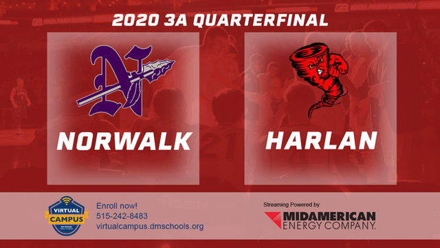 2020 Basketball 3A Quarterfinal Highlights (Norwalk | Harlan)