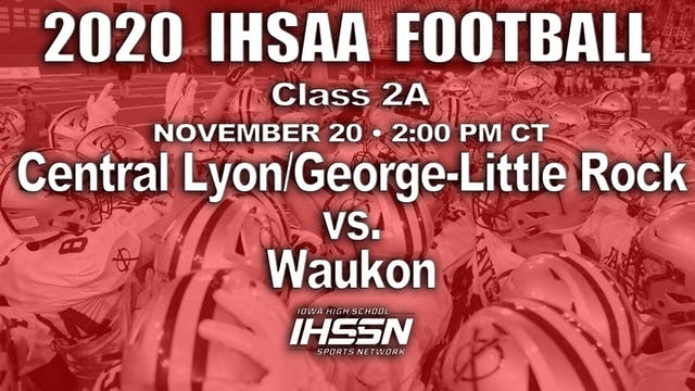 Waukon 28 vs. Central Lyon/George-Lit...