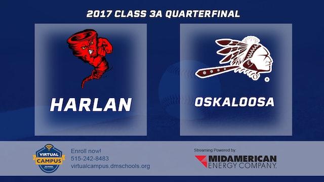 2017 Baseball 3A Quarterfinal - Harlan vs. Oskaloosa