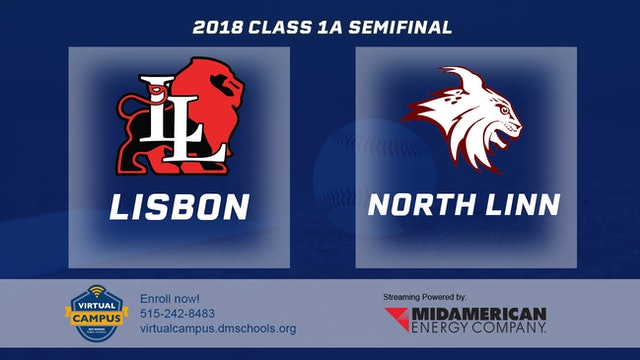 2018 Baseball 1A Semifinal - Lisbon vs. North Linn, Troy Mills