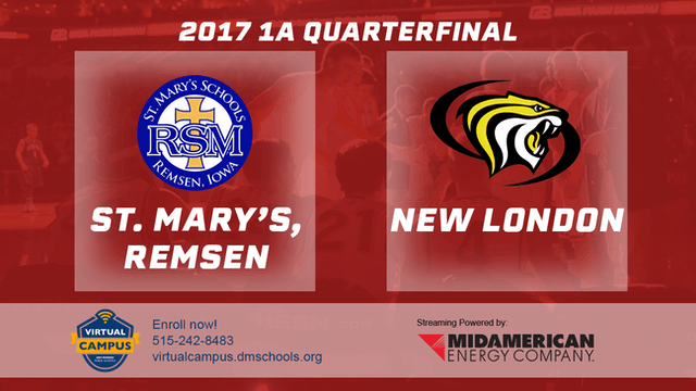 2017 Basketball 1A Quarterfinal (St. Mary's, Remsen vs. New London)