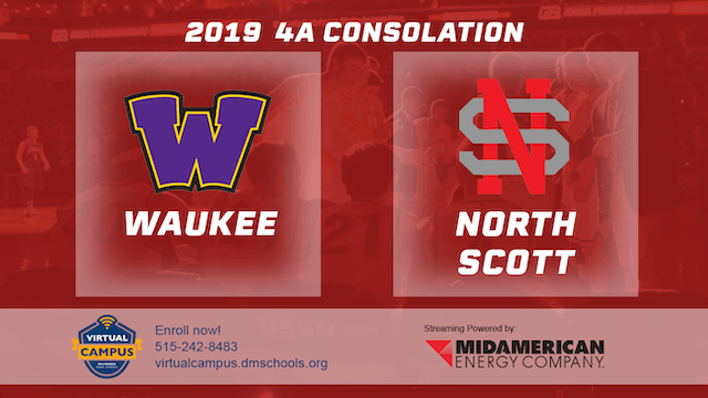 2019 Basketball 4A Consolation - Waukee vs. North Scott, Eldridge