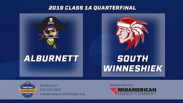 2019 Baseball 1A Quarterfinal - Alburnett vs. South Winneshiek